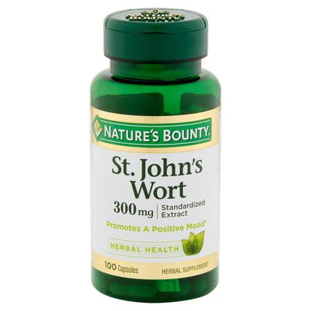 (Nature's Bounty St. John's Wort Herbal Health Capsules, 300 mg, 100 count)