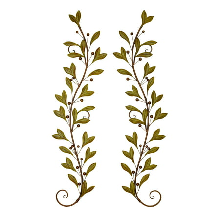 Metal wall decor pair adored beautifully with leaves and for Al ahram aluminium decoration