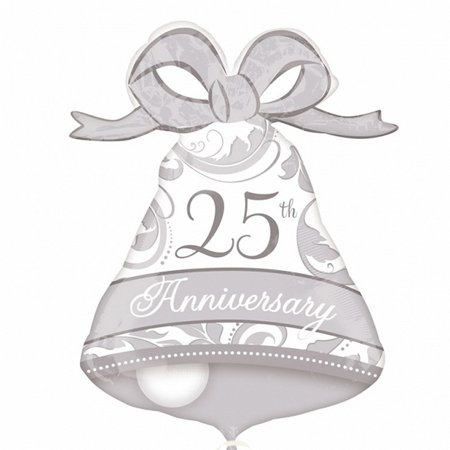 25th Anniversary Bell Shape Balloon, 27