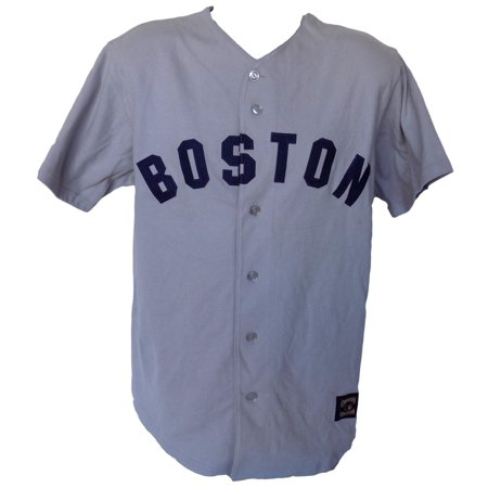 Boston Red Sox Majestic Cooperstown Collection Gray Jersey Size Large by