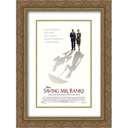 Saving Mr  Banks 18X24 Double Matted Gold Ornate Framed Movie Poster Art Print