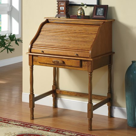 Coaster Honey Warm Secretary - Oak Roll Top Secretary Desk