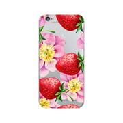 OTM Prints Clear Phone Case, Strawberry Flowers - iPhone 6 Plus/7 Plus