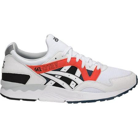 get cheap ea2f2 b6c3c ASICS - Mens Asics Gel-Lyte V White Platinum Orange Black H831Y-0101 -  Walmart.com