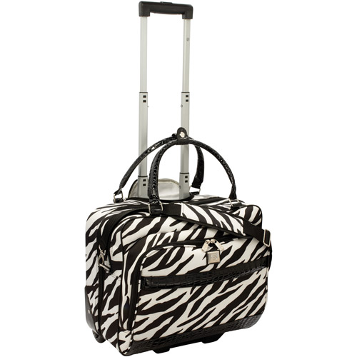 Rolling Fashion Laptop Tote, Zebra