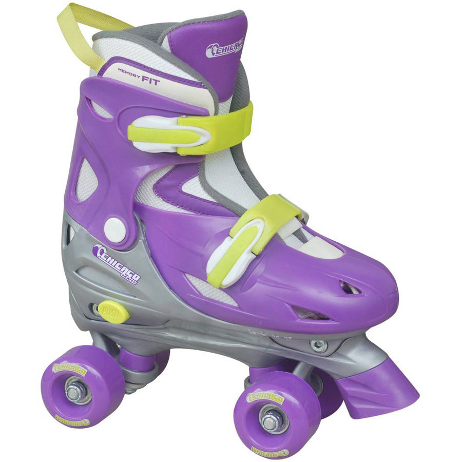 Chicago Girls' Adjustable Quad Skates by National Sporting Goods