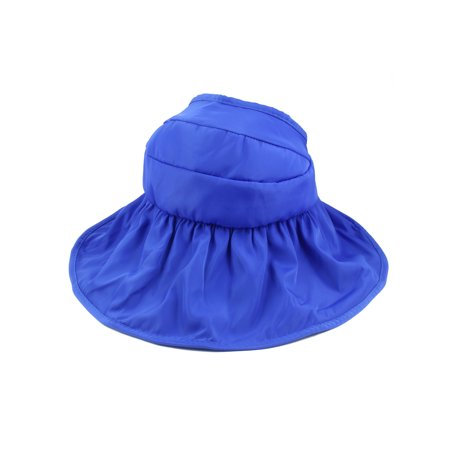 Woman Summer Roll Up Wide Floppy Brim Visor Cap Sun Protector Hat (Light Up Visor)