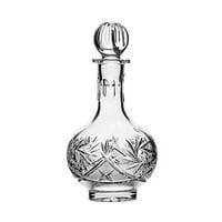 Neman Glassworks,16-Oz Hand Made Vintage Russian Crystal Decanter, Liquor Carafe