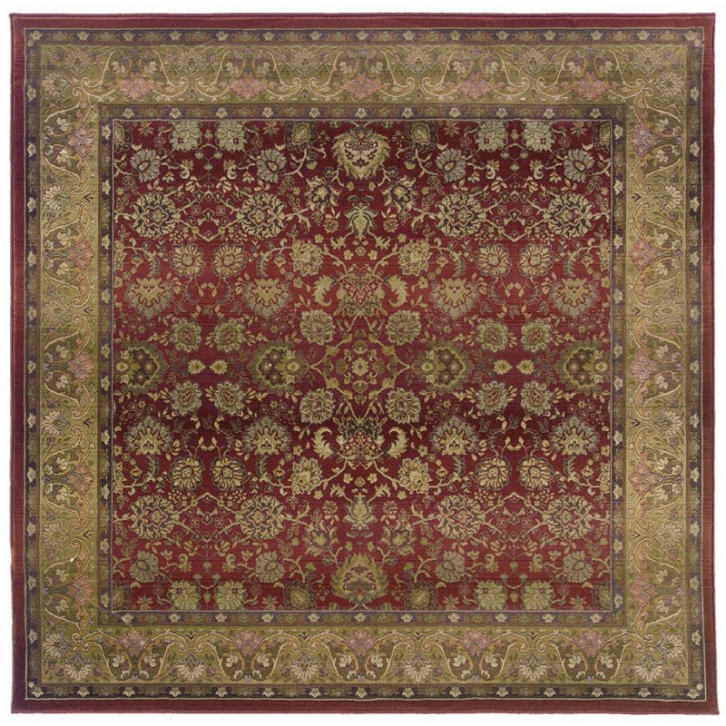Oriental Weavers Generations 8' Square Machine Woven Rug in Red