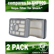 2 Pack For Shark HEPA Filter for Rotator Pro and Rotator Pro Lift-Away Vacuum Cleaners (compares to XHF500). Fits: NV500, NV501. Genuine Green Label Product