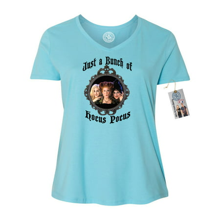 Hocus Pocus Movie Halloween Shirt Plus Size Womens V Neck T-Shirt Top - Halloween Shirts Plus Size