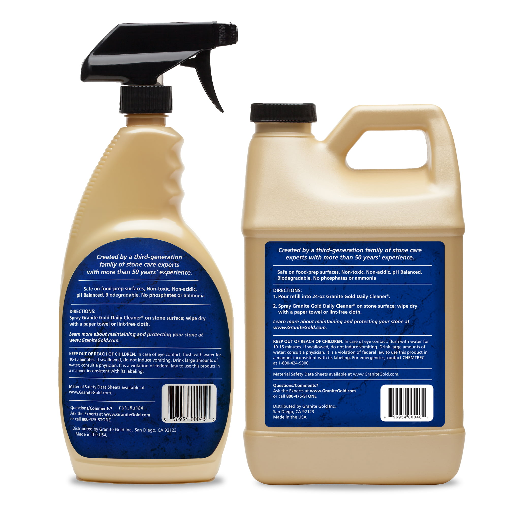 Granite Gold Daily Cleaner 88 Fl Oz Streak Free Granite Quartz And More Walmart Com Walmart Com