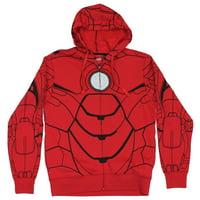 Iron Man (Marvel Comics) Mens Hoodie Sweatshirt - Mark 4  Costume w Std Hood