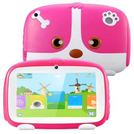 Excelvan Kids Tablet, 7 Inch Android 9.0 with 16GB RAM 8GB ROM Dual Camera WiFi USB Kids Software Edition Kids Tablet PC, Safety Eye Protection, Best Gift for Children
