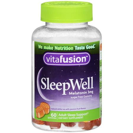 Vitafusion SleepWell Melatonin Gummies, Passion Fruit, 3mg, 60 Ct