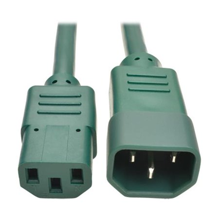 3 ft. Heavy Duty Power Extension Cord 15A - 14 AWG C14 to C13, Green