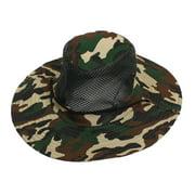 Unique Bargains Men Women Nylon Hiking Fishing Cap Sun Hat Mesh Veil Hooded