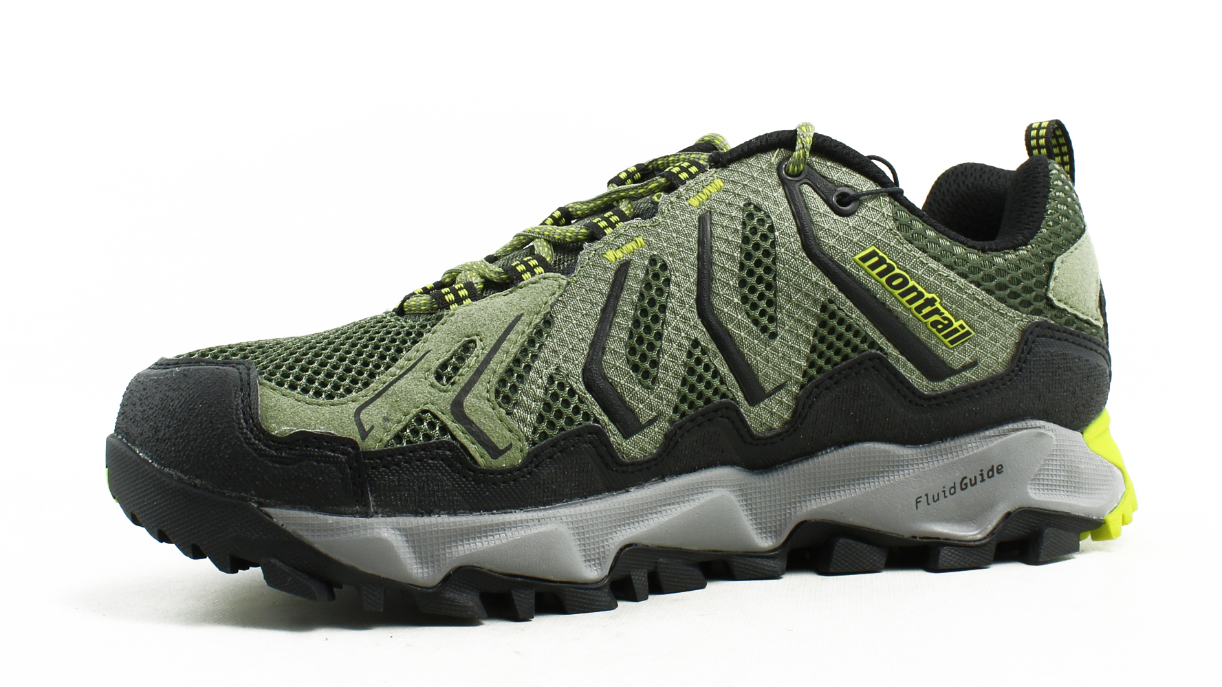 New Montrail Mens Trans Alps Green Trail Shoes Size 7.5
