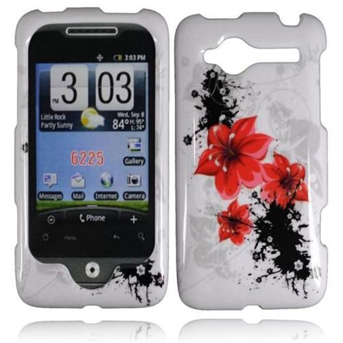 Insten For HTC Wildfire CDMA 6225 Design Phone Hard Case Red Lily