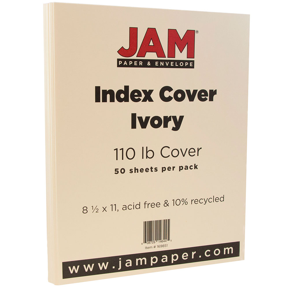 "JAM Paper Premium Index Cardstock - 8.5"" x 11"" - 110lb Ivory - 50 Sheets/Pack - image 2 of 2"