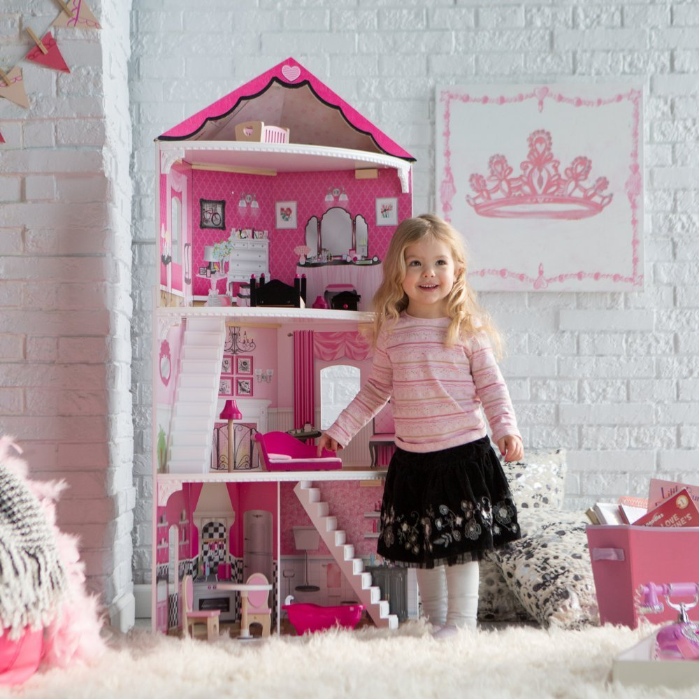 KidKraft Think Pink Corner Dollhouse - 65836