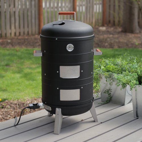 Meco Deluxe 2-in-1 Electric Water Smoker/Grill