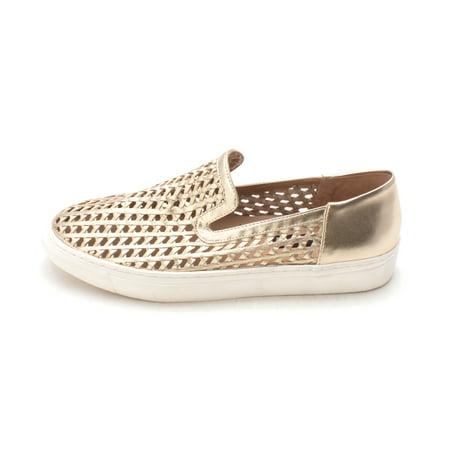 189830e114b Steven By Steve Madden Womens Kalypso Leather Low Top Slip On Fashion  Sneakers