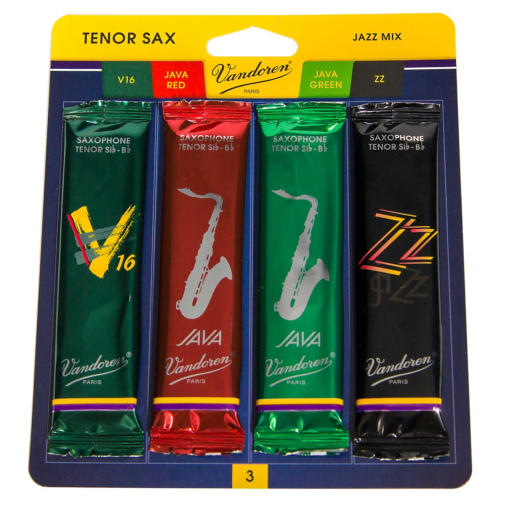 Vandoren Tenor Saxophone Jazz Reed Sample Pack Strength - 3