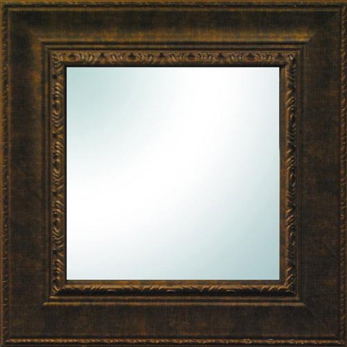 """19"""" x 19"""" Bronze Ornate Square Mirror"""