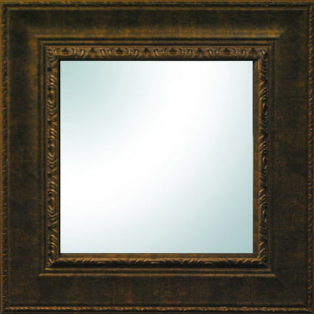 19 x 19 bronze ornate square mirror for Square mirror