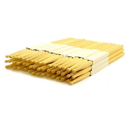 24 pairs - 2b wood tip natural maple drumsticks pro 48 drum sticks new - Bulk Drum Sticks