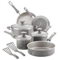 Rachael Ray 11-Piece Get Cooking Non-Stick Pots & Pans Set/Cookware Set