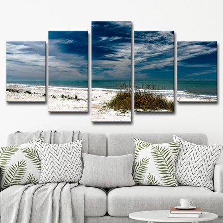 Ready2HangArt Bruce Bain \'Silent Beach\' 5-piece Set Canvas Wall Art ...