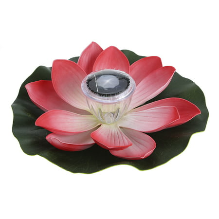 0.1W Solar Powered Multi-colored LED Lotus Flower Lamp RGB Water Resistant Outdoor Floating Pond Night Light Auto On / Off for Garden Pool Party Ideal Gift Red Floating Flower Lights