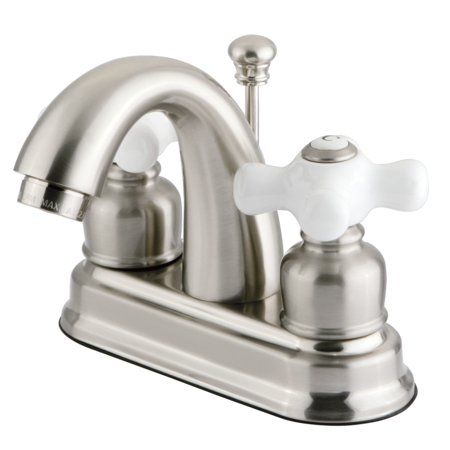 - Kingston Brass GKB5618PX 4-Inch Centerset Lavatory Faucet, Brushed Nickel