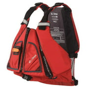 Absolute Outdoor 122400-100-060-14 Movevent Torsion Vest, Red & Black - Extra Large & 2 Extra Large