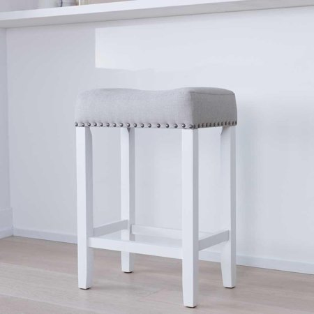 (Hylie Wood Kitchen Counter Stool, 24