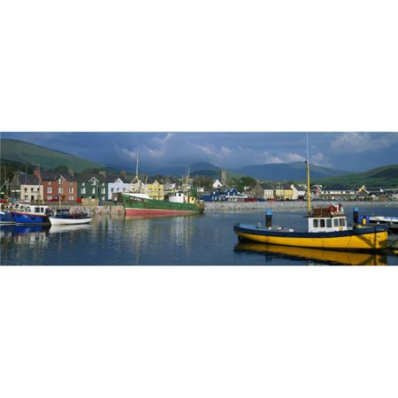 Posterazzi DPI1798892LARGE Boats Moored At A Harbor Dingle Harbor Dingle Peninsula County Kerry Republic of Ireland Poster Print by The Irish Image Collection, 44 x 14 - Large - image 1 de 1
