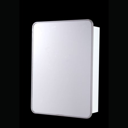 Ketcham 16W x 22H in. Single Door Surface Mount Medicine Cabinet - Rounded Corners