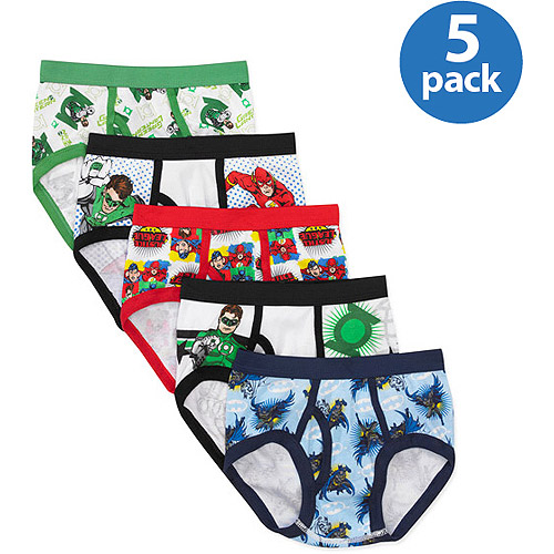 DC Comics Justice League Boys' 5 Piece Underwear Set