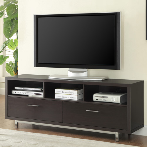 Contemporary Cappuccino Floating top TV Console for TVs up to 46""