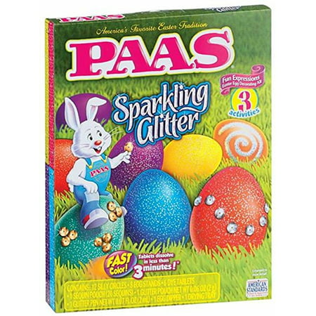 PAAS EASTER SPARKLING GLITTER EGG DECORATING KIT