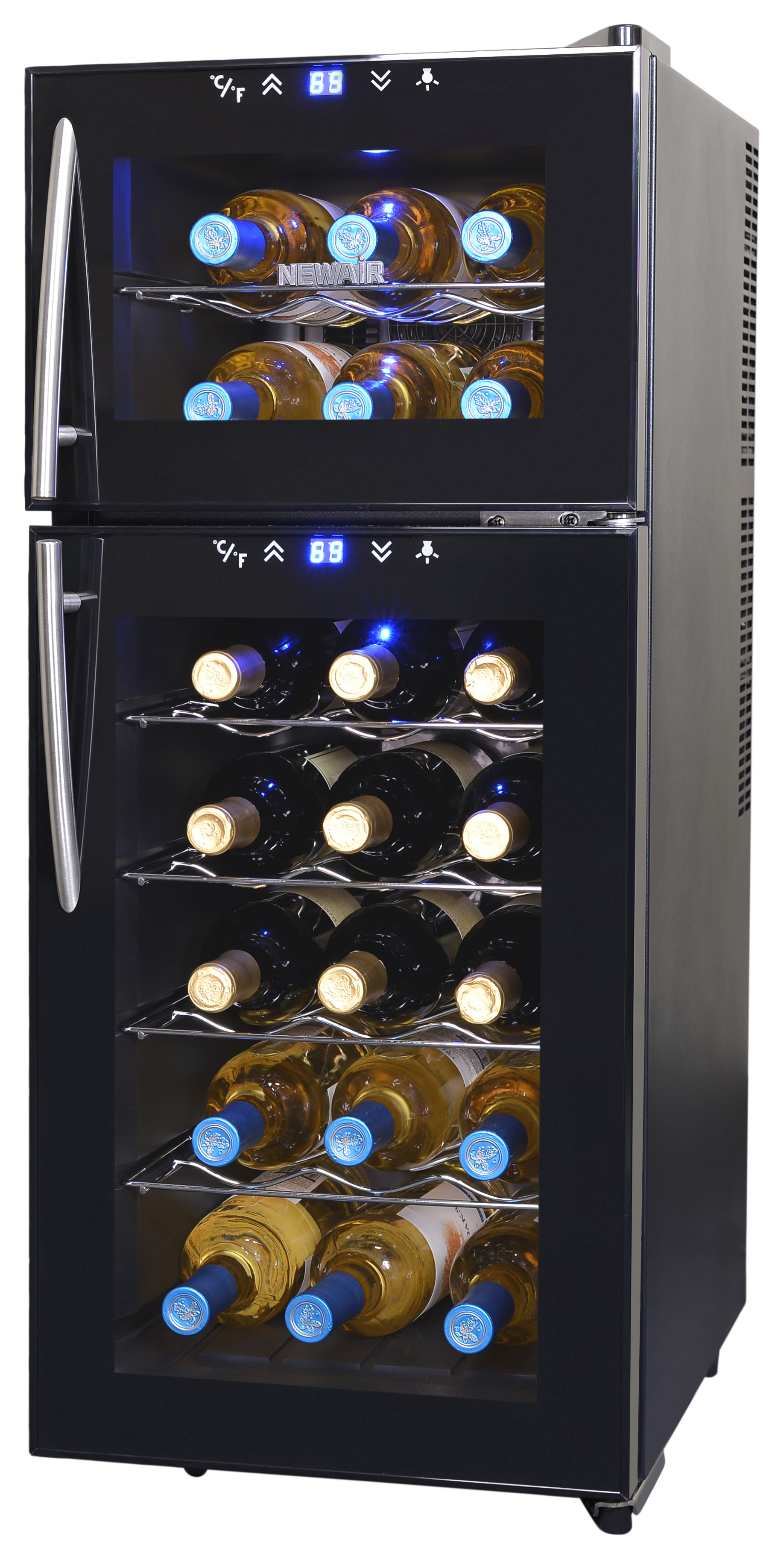 NewAir AW-210ED 21-Bottle Thermoelectric Wine Refrigerator, Black