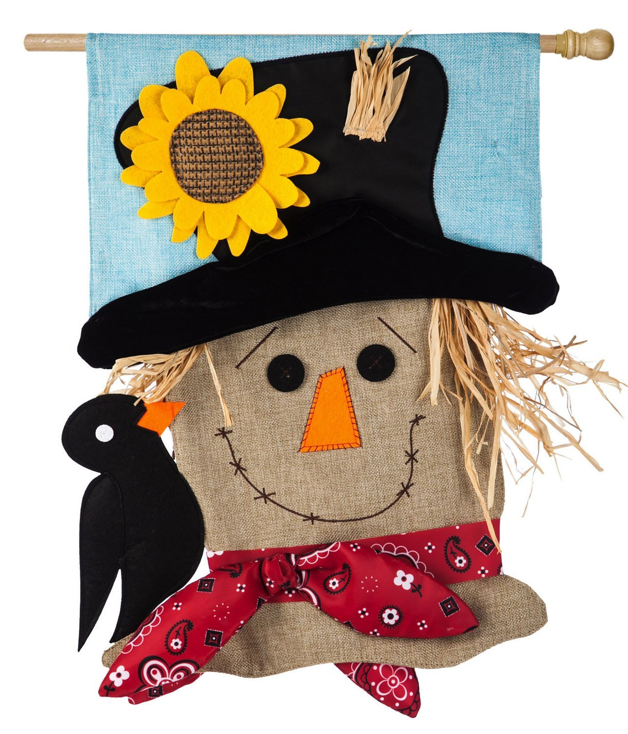 Evergreen Scarecrow Season Burlap House Flag 28 X 44 Inches Welcome Guests To Your Home With This Detailed Garden Flag By Evergreen Flag From Usa Walmart Com Walmart Com