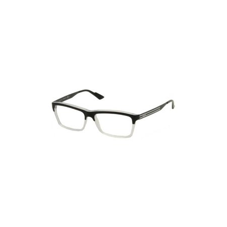 6c37249dd0f6f Womens Eyeglasses 3517 WW2 14 Plastic Rectangle Black Crystal Frames -  Walmart.com