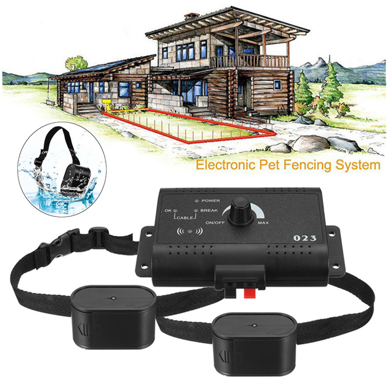 elegiant underground electric dog fence system 2 shock collar waterproof for 2 dogsneck size