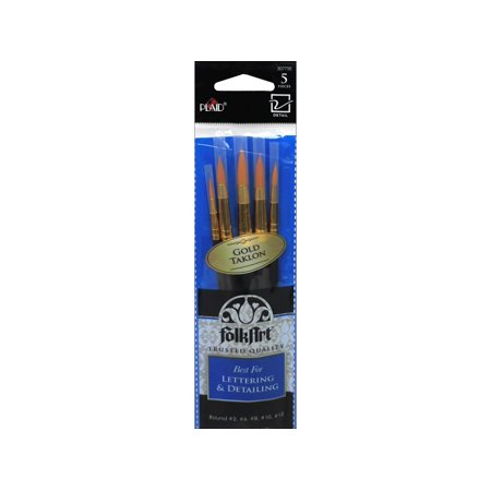 Plaid Round Paint Brush Set, 5 Piece