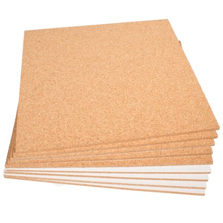 Cork Sheet With Adhesive: 9 Pack; 12
