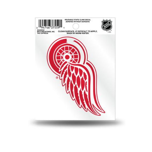 Detroit Red Wings Official NHL 3.5 inch  Small Static Cling Window Car Decal by Rico