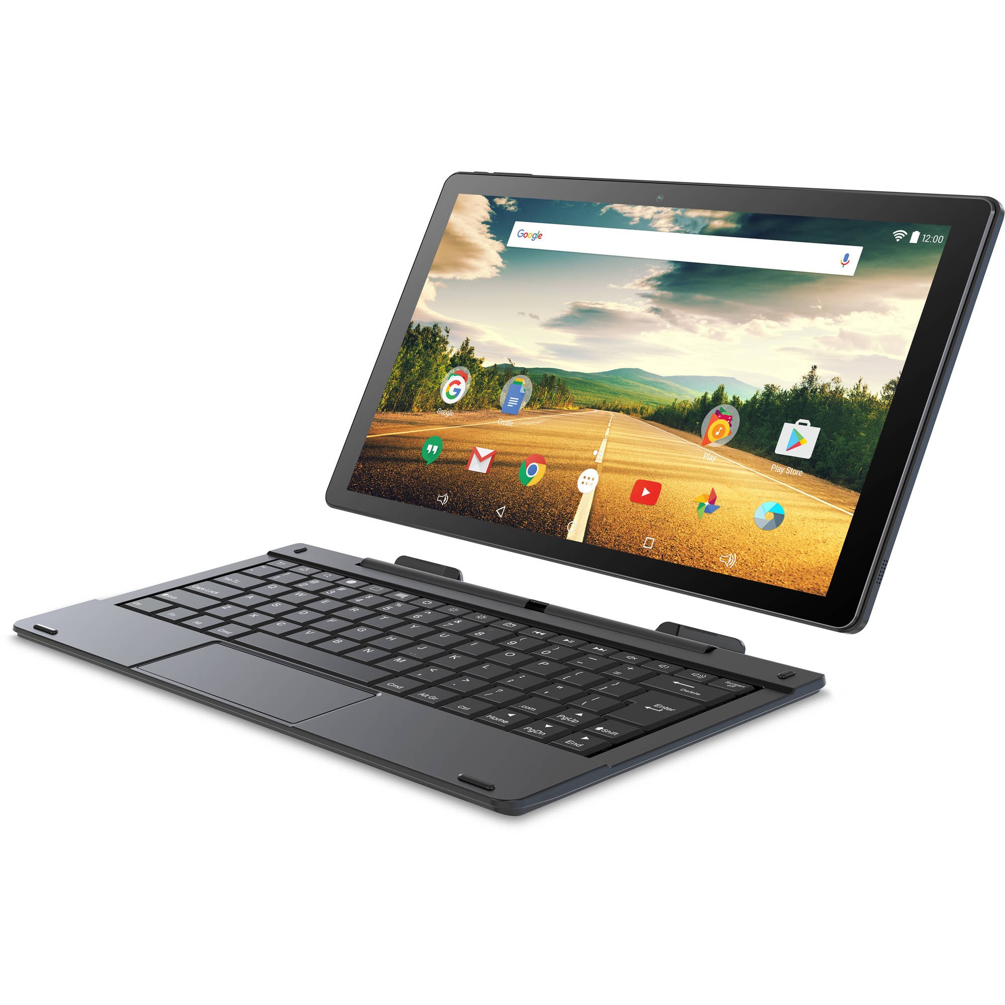 """Smartab with WiFi 10.1"""" 2-in-1 Touchscreen Tablet PC Featuring Android Operating System"""